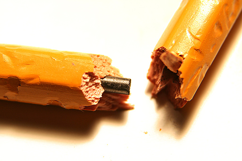 image of broken pencil